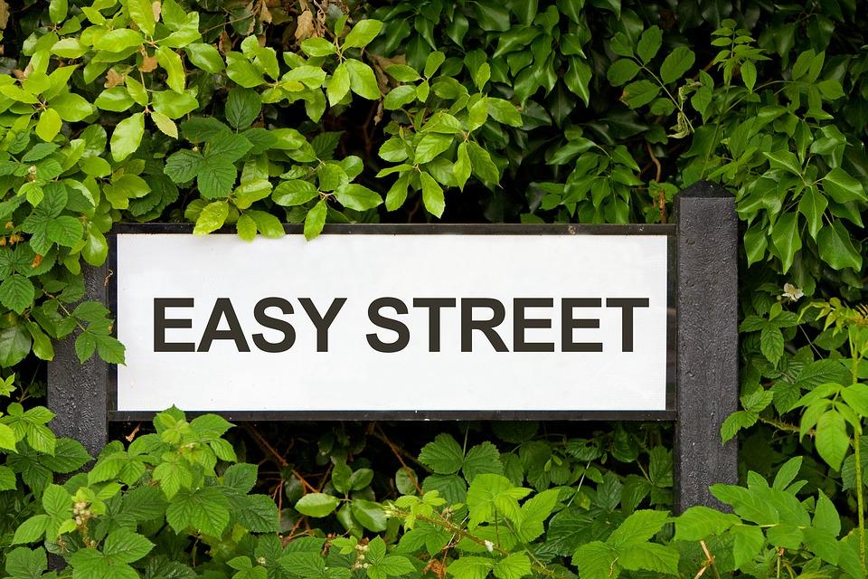 easy street、標識