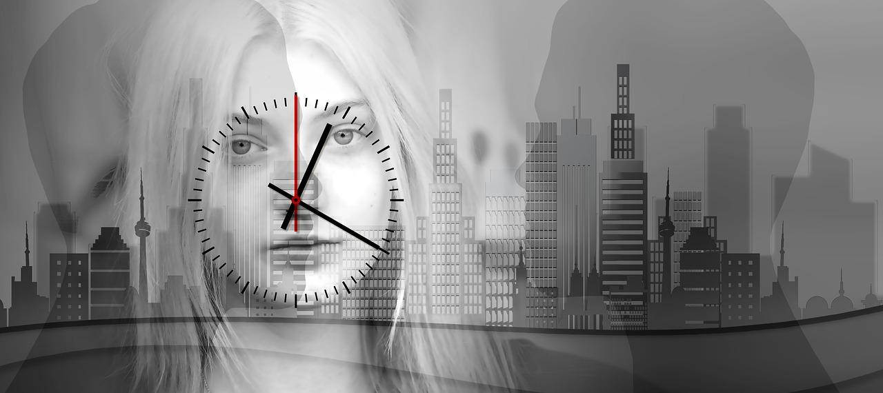 女性、時間