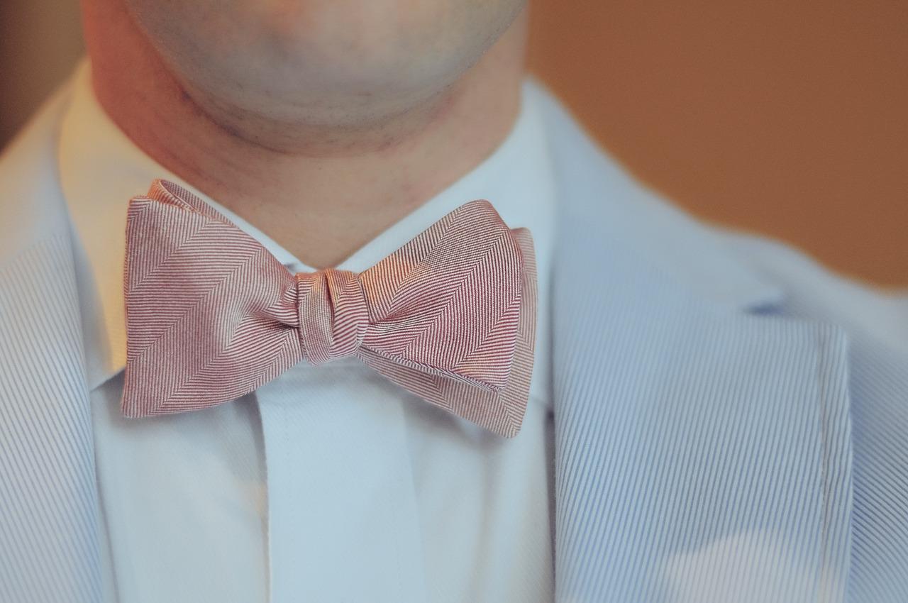 蝶ネクタイ、男性